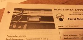 Einbauanleitung Ford Consul 315 1962 Blaupunkt autoradio