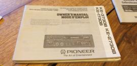 Pionee KE-3730B 2730B 1730B gebruiksaanwijzing manual betriebsanleitung