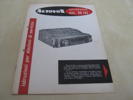 Gebruiksaanwijzing / schema Autovox RA 102