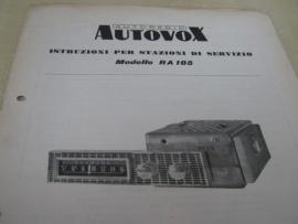 Gebruiksaanwijzing / schema Autovox RA 105
