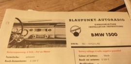 Einbauanleitung BMW 1500 1962 Blaupunkt autoradio