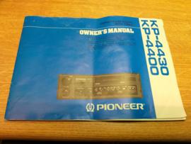 Pioneer autoradio KP-4400 / 4430 gebruiksaanwijzing manual