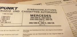 Einbauanleitung Mercedes  Blaupunkt autoradio