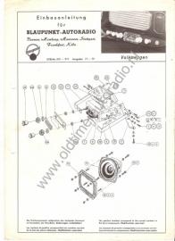Radio inbouw VW Kever Ovaal `56