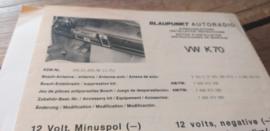 Einbauanleitung VW K70 Blaupunkt autoradio