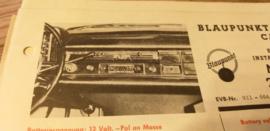 Einbauanleitung Mercedes  220  1961 Blaupunkt autoradio Capri