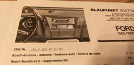 Einbauanleitung Ford Taunus Cortina 1971 Blaupunkt autoradio