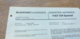 einbauanleitung / installation instructions Fiat 124 Spezial 1972l