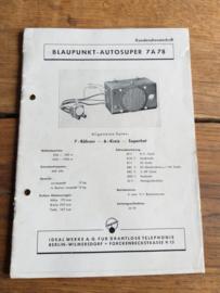 Blaupunkt-Autosuper 7 A 7 8