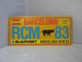 Nummerplaat  Barcelona RCM 83