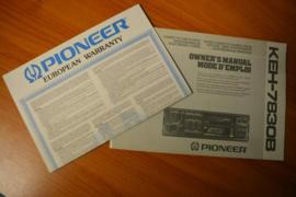 Pioneer KEH-7830B gebruiksaanwijzing manual betriebsanleitung