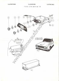 Radio inbouw Ford 17M/20M 68-70