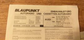 Einbauanleitung Audi 100 1979 Blaupunkt autoradio mit console