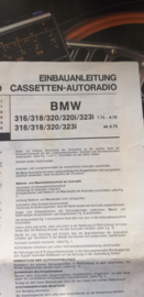 inbouw instructies autoradio oor BMW 3 serie o.a. 320 / 323i