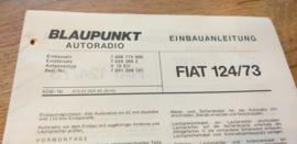 einbauanleitung / installation instructions Fiat 124 1973