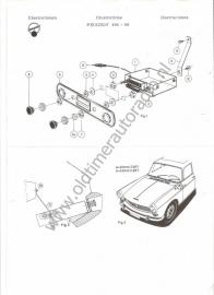 Radio inbouw Peugeot 404 `68