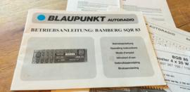 Bamberg SQR 83 - BQB 80 Booster Blaupunkt  Bedienungsanleitung