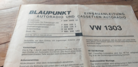 Einbauanleitung VW 1303 Käfer Blaupunkt autoradio #2
