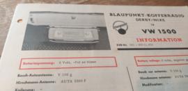 Einbauanleitung VW 1500 Blaupunkt autoradio Derby / Nixe
