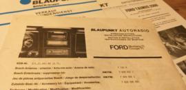 Einbauanleitung Ford  Mustang Cougar 1971 Blaupunkt autoradio