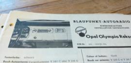 Einbauanleitung Opel Rekord Olympia 1963 Blaupunkt autoradio