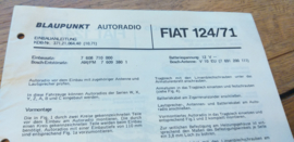 einbauanleitung / installation instructions Fiat 124 1971