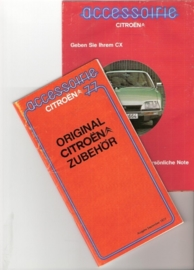 "Folder met  ""original zubehor"" Citroën 1977"
