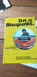 Blaupunkt  1971 folder / prijslijst  autoradio