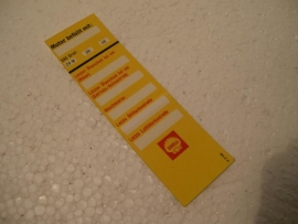 Shell deur sticker / oil change reminder original