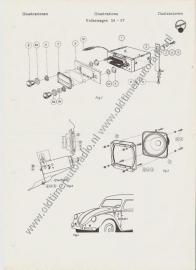 Radio Inbouw VW kever `54 - `57