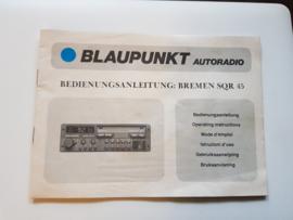 Bremen SQR 45 BLAUPUNKT bedienungsanleitung / manual autoradio