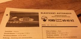 Einbauanleitung Ford Comet Falcon 1962 Blaupunkt autoradio