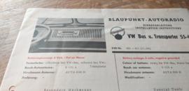 Einbauanleitung VW Transporter T1 Blaupunkt autoradio 1955-1962