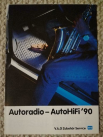 Duitstalige VW Audi Autoradio - AutoHifi '90 brochure