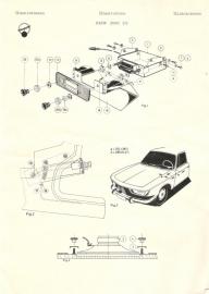 Radio inbouw BMW 2000 CS
