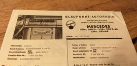 Einbauanleitung Mercedes  200 1968 Blaupunkt autoradio