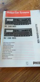 RC 268 288 gebruiksaanwijzing manual Philips  autoradio