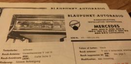 Einbauanleitung Mercedes 1965 Blaupunkt autoradio