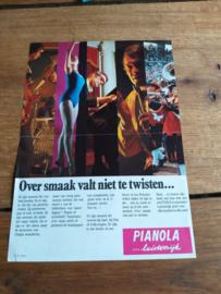Pianola 1970 folder + prijs