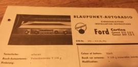 Einbauanleitung Ford Cortina 1962 Blaupunkt autoradio