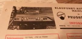 Einbauanleitung Peugeot 404  1964 Blaupunkt autoradio Mainz