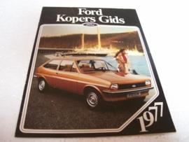 Autofolder Ford Kopers Gids 1977