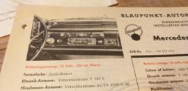 Einbauanleitung Mercedes  190 D c 1961 Blaupunkt autoradio