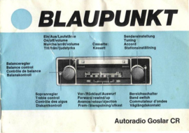 Blaupunkt Goslar CR stereo met UKW stationswahler