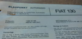 einbauanleitung / installation instructions Fiat 130 9.71