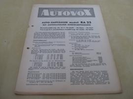 Gebruiksaanwijzing / schema Autovox RA 23