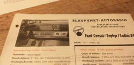 Einbauanleitung Ford Consul Zephyr Zodiac 1961 Blaupunkt autoradio
