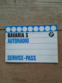 Bavaria S BMW Autoradio  Bedienungsanleitung
