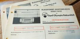 Einbauanleitung Opel Rekord Olympia 1963 Blaupunkt autoradio Derby / Nixe