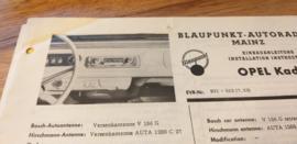 Einbauanleitung opel Kadett 1963 Blaupunkt autoradio Mainz